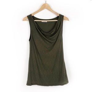 Michael Stars Supima Cotton Cowl Neck Tank Top